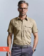 Men´s Roll Short Sleeve Fitted Twill Shirt